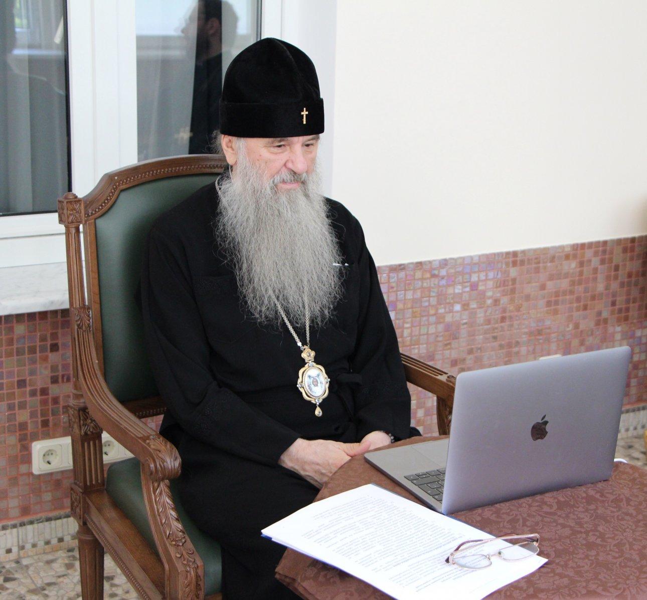 Митрополит Варсонофий принял участие в видеоконференции с участием глав конфессий