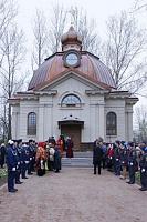 На месте блокадного крематория в Санкт-Петербурге освящена часовня Всех святых, в Земле Российской просиявших